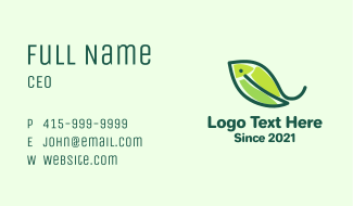 Fish Nature Leaf Business Card