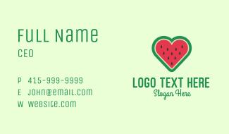 Watermelon Heart  Business Card