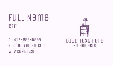 Purple Side Table Business Card
