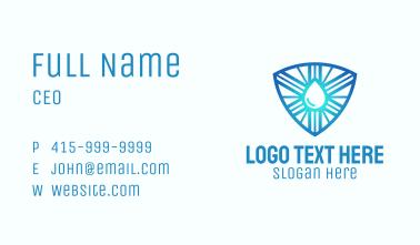 Liquid Shine Crest Business Card