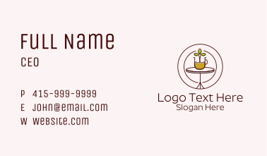 Organic Coffee Plant Business Card