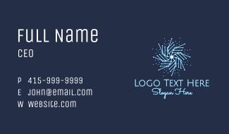 Elegant Snowflake  Business Card