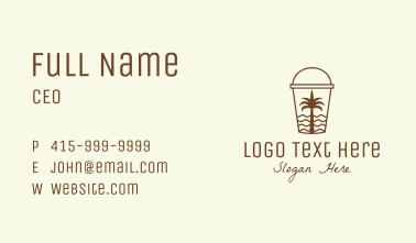 Tropical Beach Smoothie Business Card
