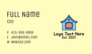 Toddler Daycare Center Business Card