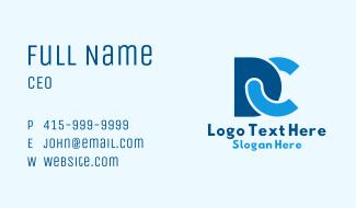 D & C Monogram Business Card