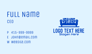 Blue Tech Couch Business Card