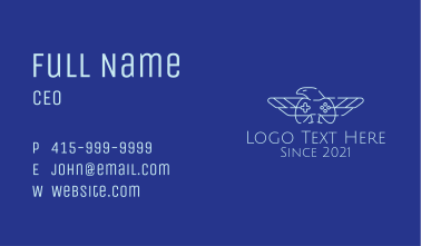 Minimalist Eagle Gamer Business Card