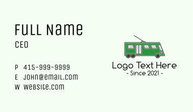 Line Wire City Bus Business Card