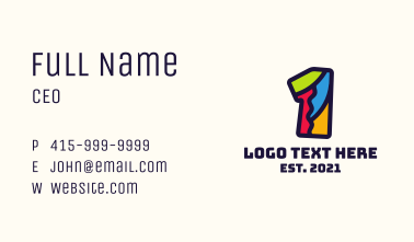 Colorful Number 1 Business Card