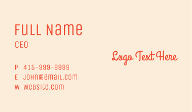 Glowing Beauty Skincare Text Business Card