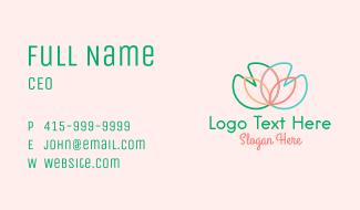 Multicolor Lotus Flower Business Card