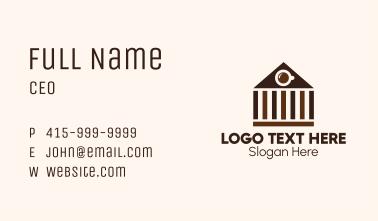 Coliseum Coffee Shop Business Card