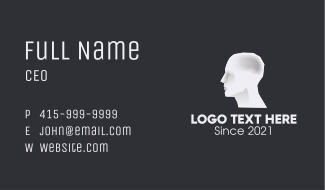 Human Stone Sculpture Business Card