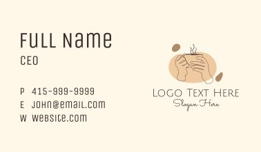 Monoline Hand Coffee Business Card