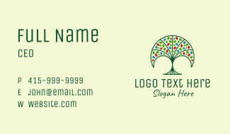 Nature Fan Tree Business Card