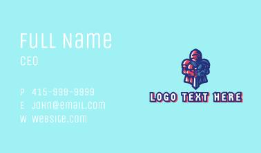 Gamer Soldier Avatar  Business Card