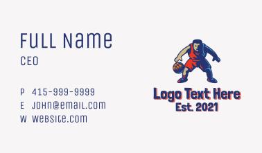 Basketball Player Mascot  Business Card