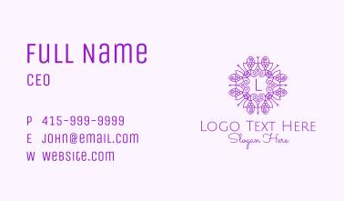 Grape Vineyard Letter Business Card