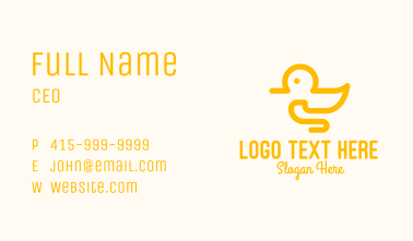 Yellow Duck Toy Business Card