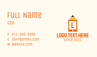 Pencil Mobile Tablet Business Card