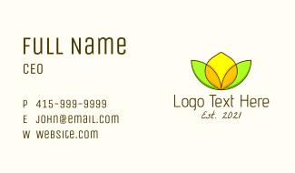 Minimalist Lemon Design Business Card