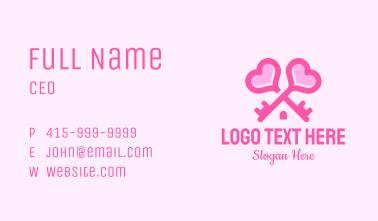 Key Heart Home  Business Card