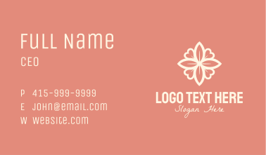 Floral Heart Decoration Business Card