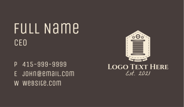 Tailoring Thread  Business Card