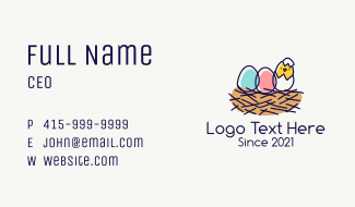Cute Chick Egg  Business Card