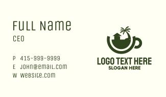 Tropical Residence Teacup Business Card