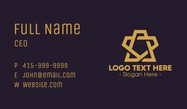 Modern Brown Star Business Card