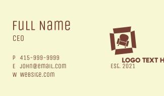 Box Armchair Furniture  Business Card