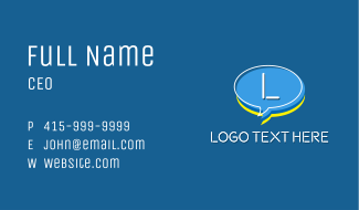 Chat Head Letter Business Card