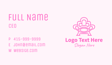 Pink Accent Chair  Business Card