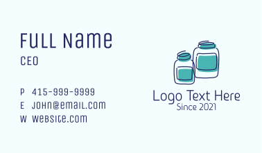 Jar Storage Container  Business Card