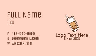 Pearl Milk Tea Drink Business Card