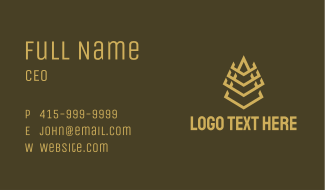 Minimalist Pyramid Tower Business Card