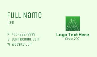 Green Carpentry Ladder Business Card