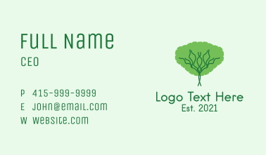 Tree Plant Park  Business Card