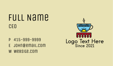 Ethnic Coffee Shop Business Card