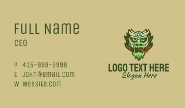 Chinese Dragon Mascot Business Card