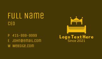 Queen Crown Bed Business Card