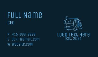 Blue Express Truck Business Card