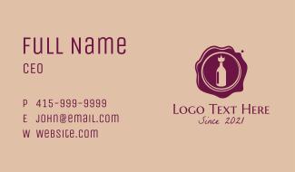 Premium Wine Company Business Card