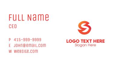 Gradient Letter S Business Card