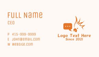 Cockatoo Messaging App  Business Card
