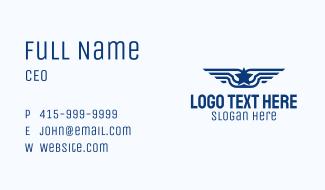 Star Wings Emblem Business Card
