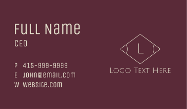 Minimalist Geometric Letter Business Card