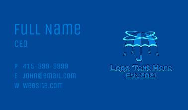 Orbital Umbrella  Star  Business Card