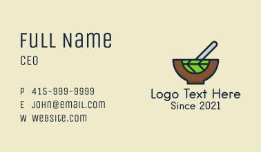 Vegan Salad Bowl Business Card